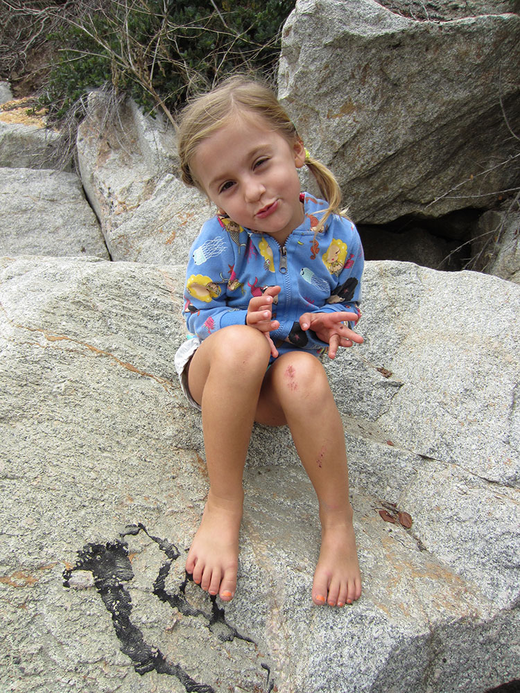 Liliana on the rocks in Cayucos