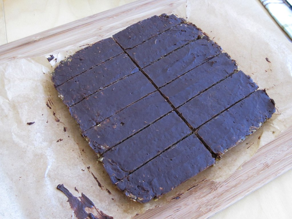 protein bars cut into 12 pieces
