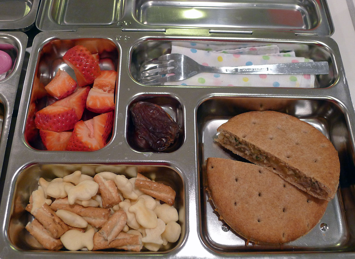 lunch on 28 Feb 2013: apple sausage panini