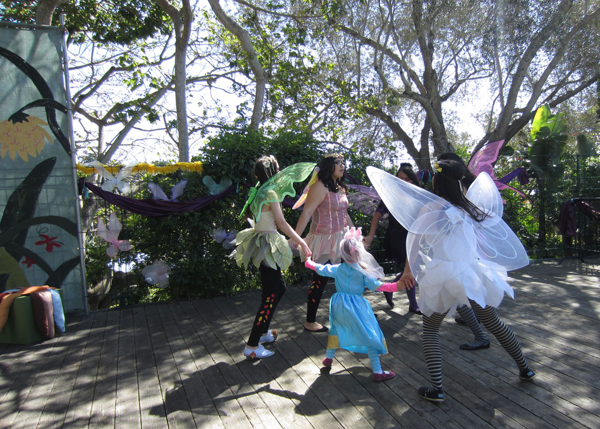 Princess Day at Santa Barbara Zoo: dancing with fairies