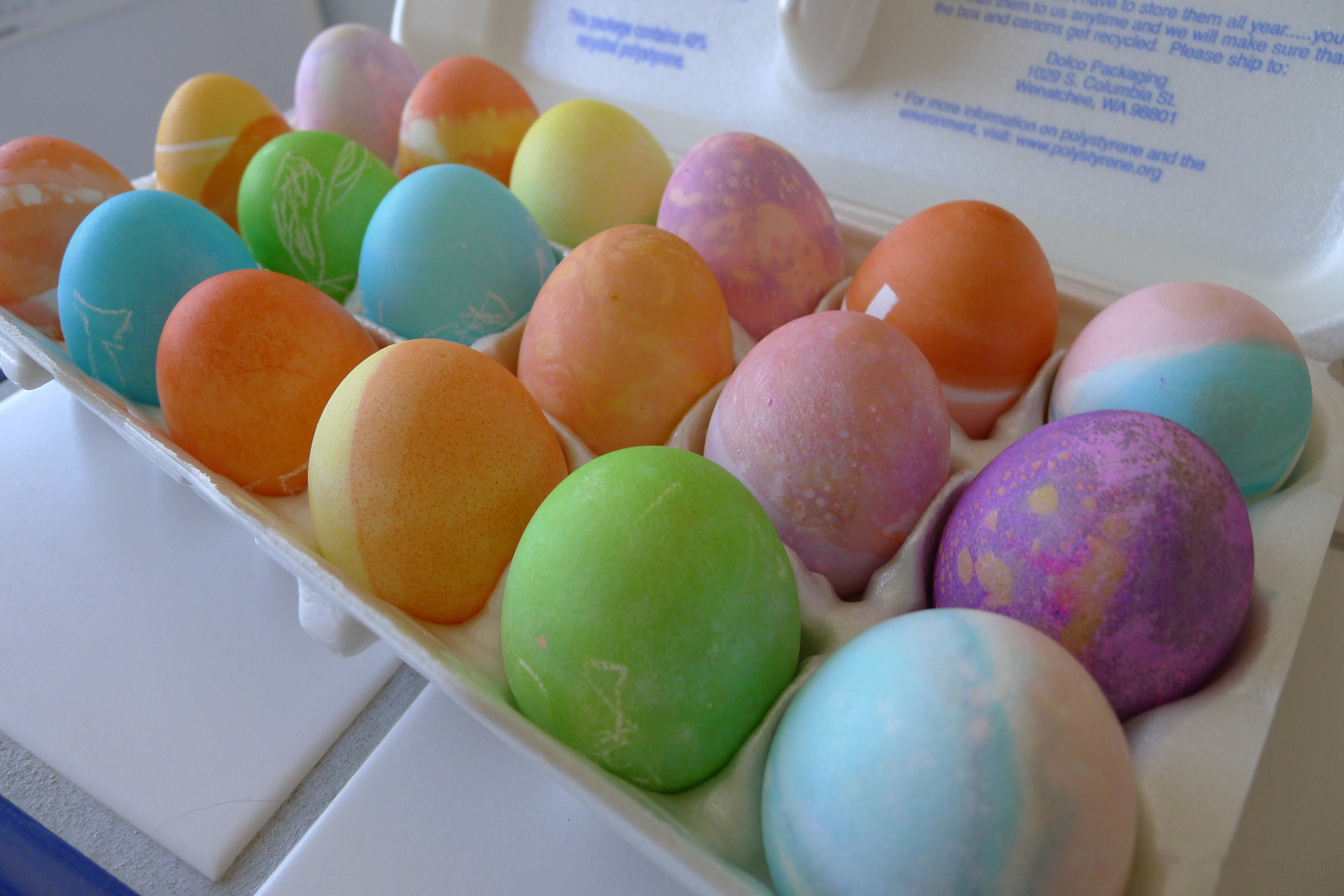 just a few of the Easter eggs we dyed