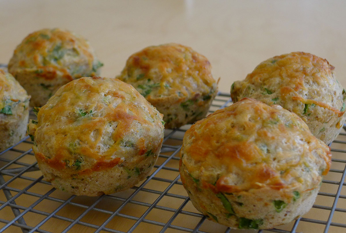 tuna melt muffins fresh out of the oven