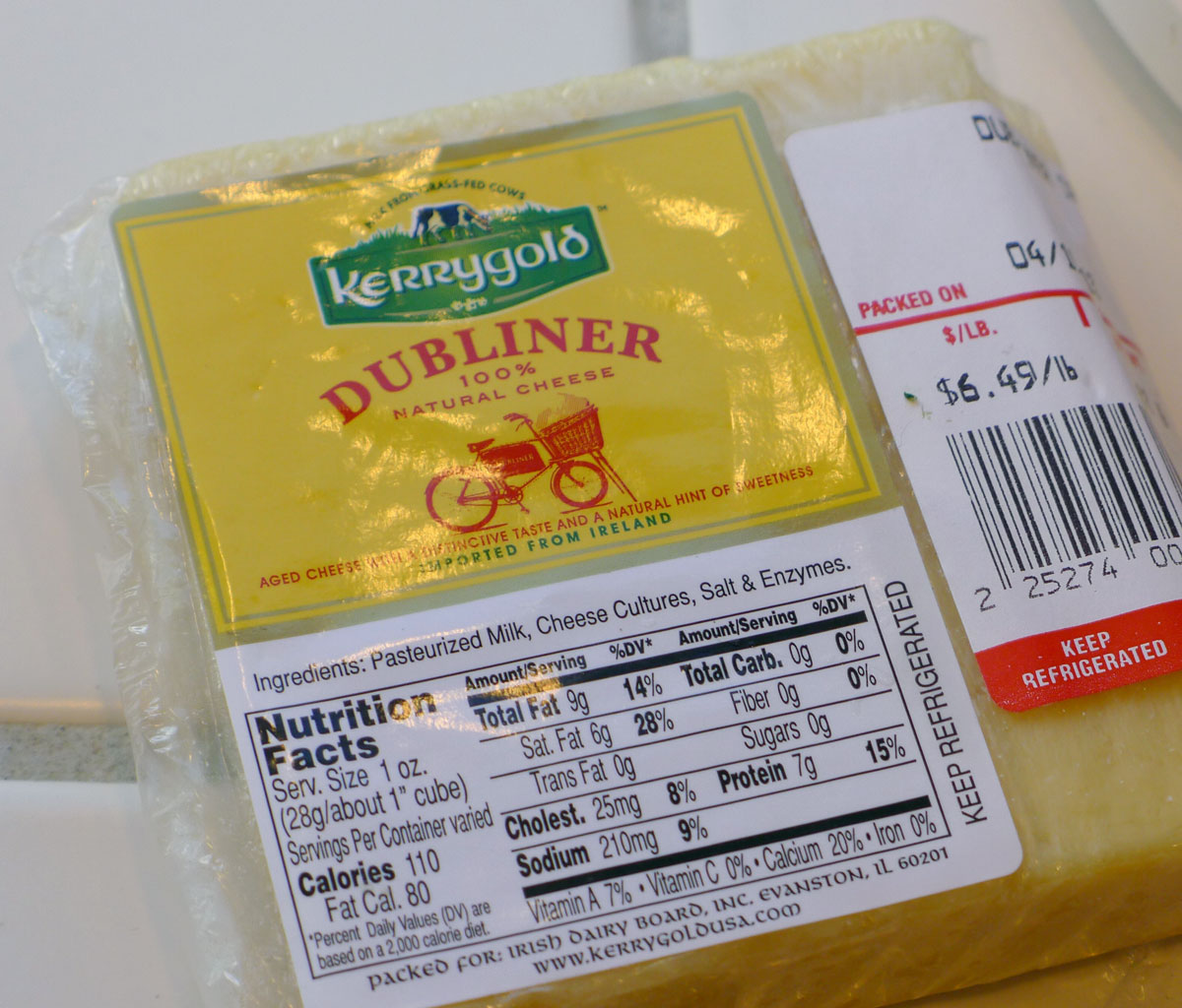 super delicious cheese: Dubliner