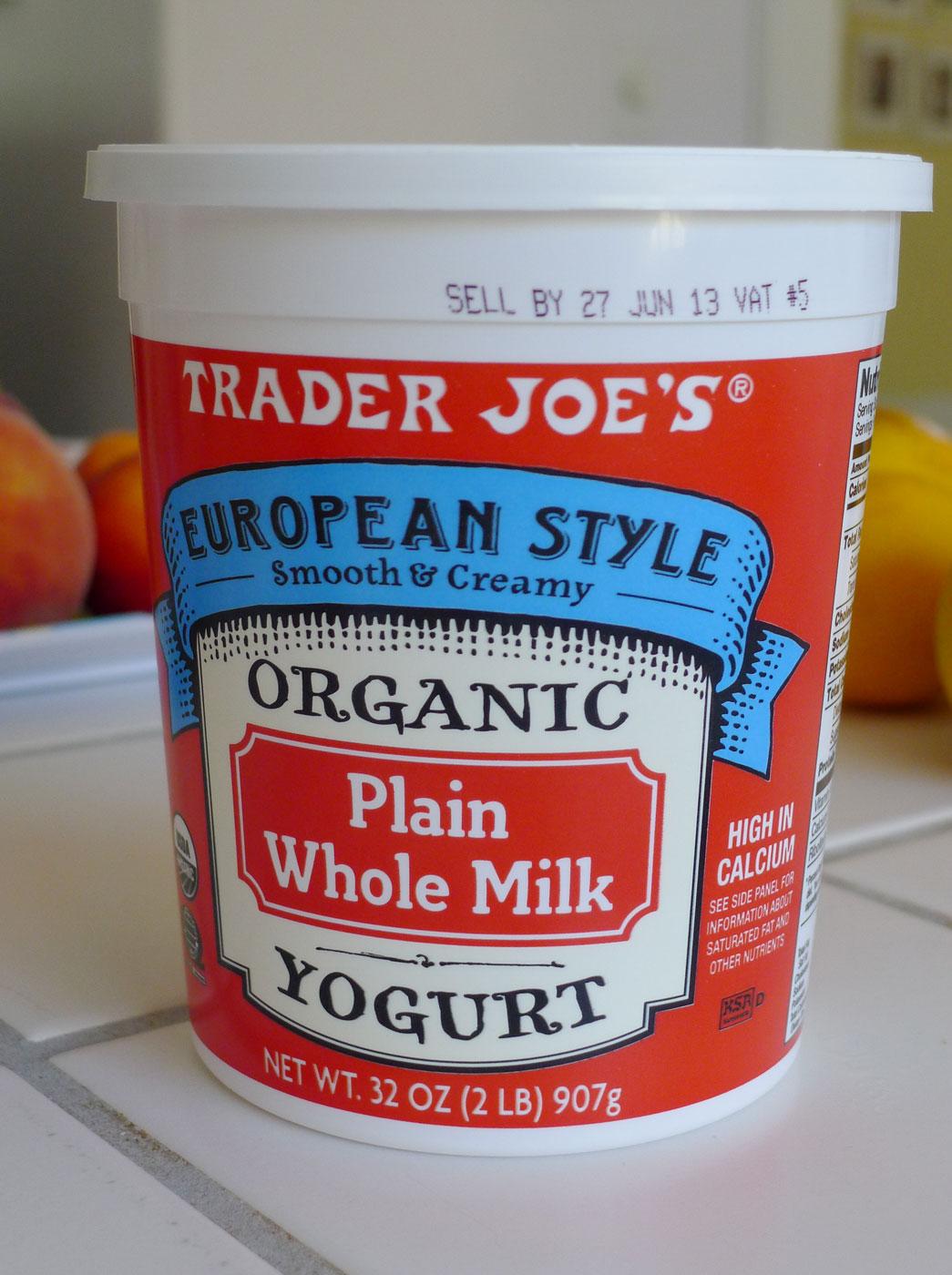 Trader Joe's Organic Plain Whole Milk Yogurt